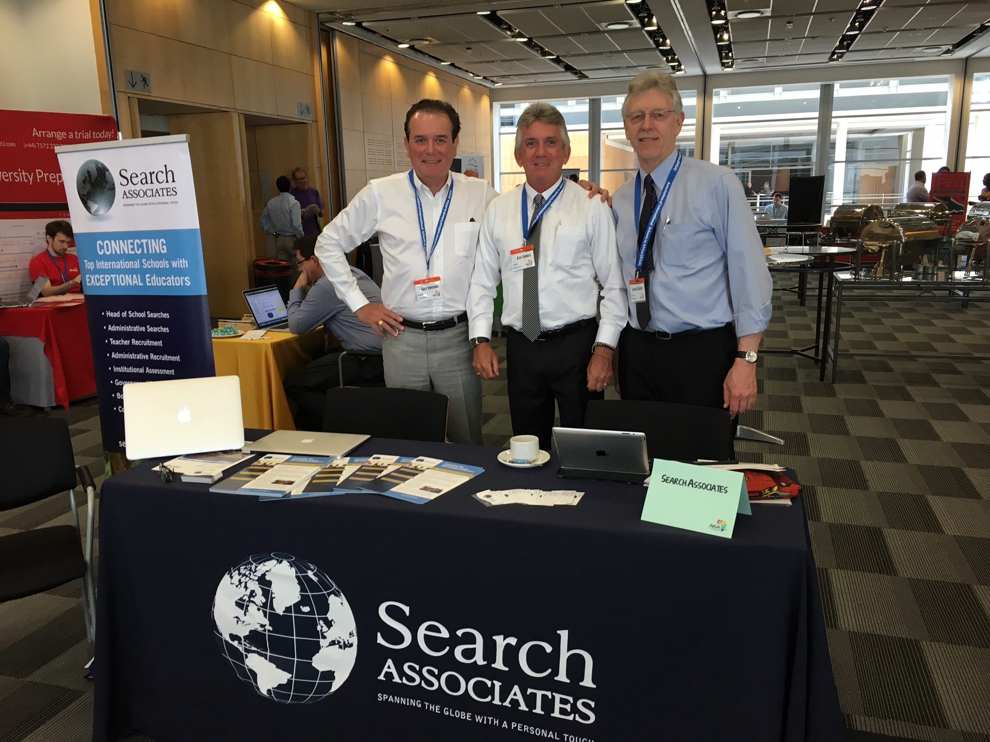 Associates at NESA conference. From left:  Gez Hayden, Ray Sparks, and Dr. David Cramer