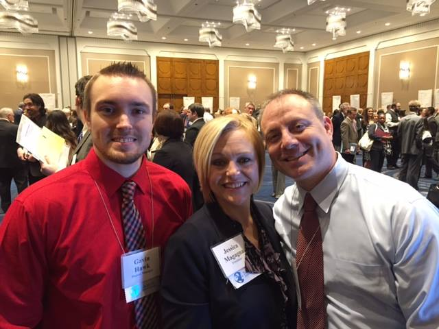 Jessica Magagna, President of Search Associates, shown with husband Rob Snyder (Web Developer, pictured right) and nephew Gavin Hawk (Project Manager, pictured left)