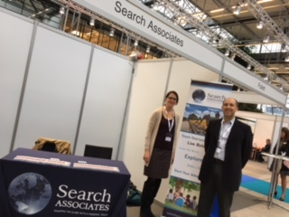 Bridget with partner John Doxey at the exhibitor table
