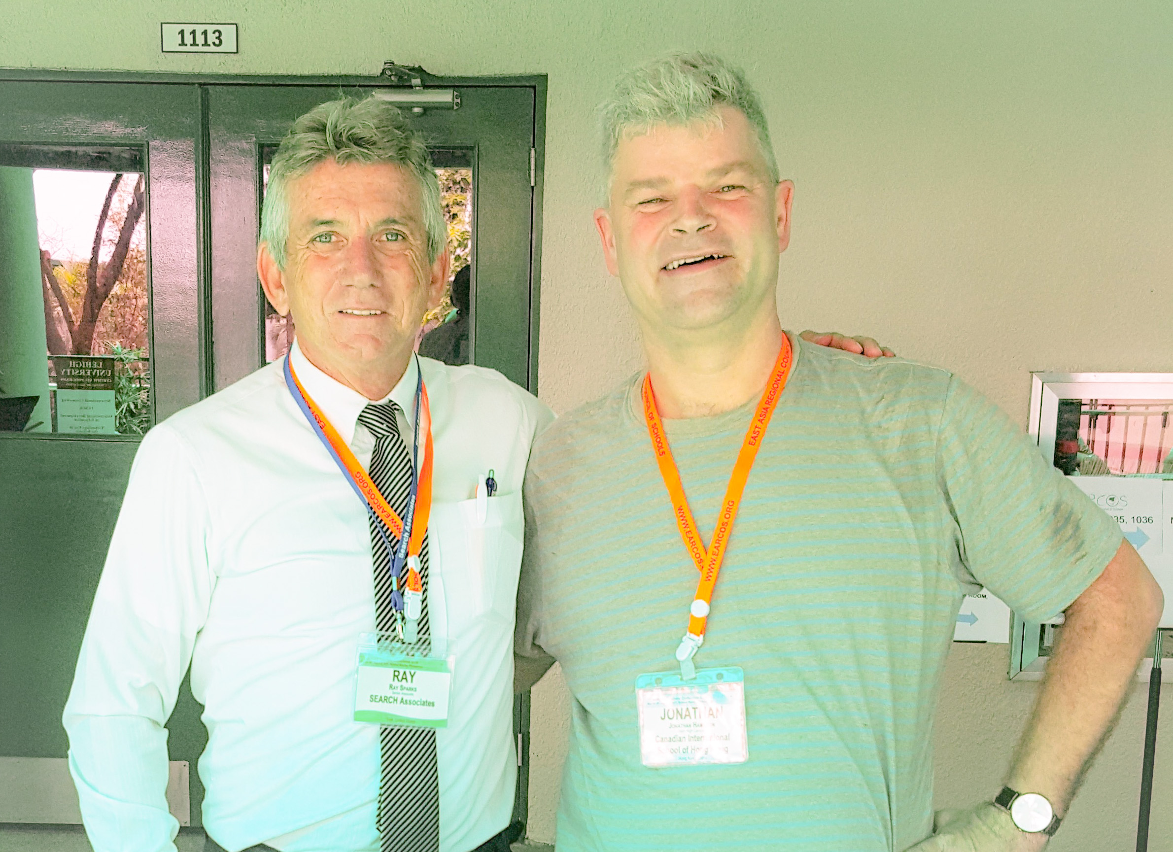 From left: Ray Sparks with former candidate Jonathan Hamilton from the Canadian International School Hong Kong