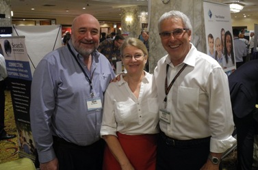 From left: Anne Fowles and Sean O'Maonaigh with Barry Drake