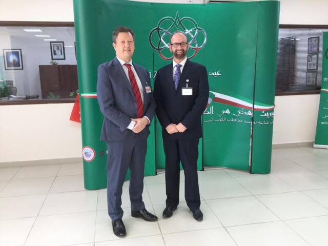 With Principal Gustav Gropp at Al Bayan International School, Kuwait