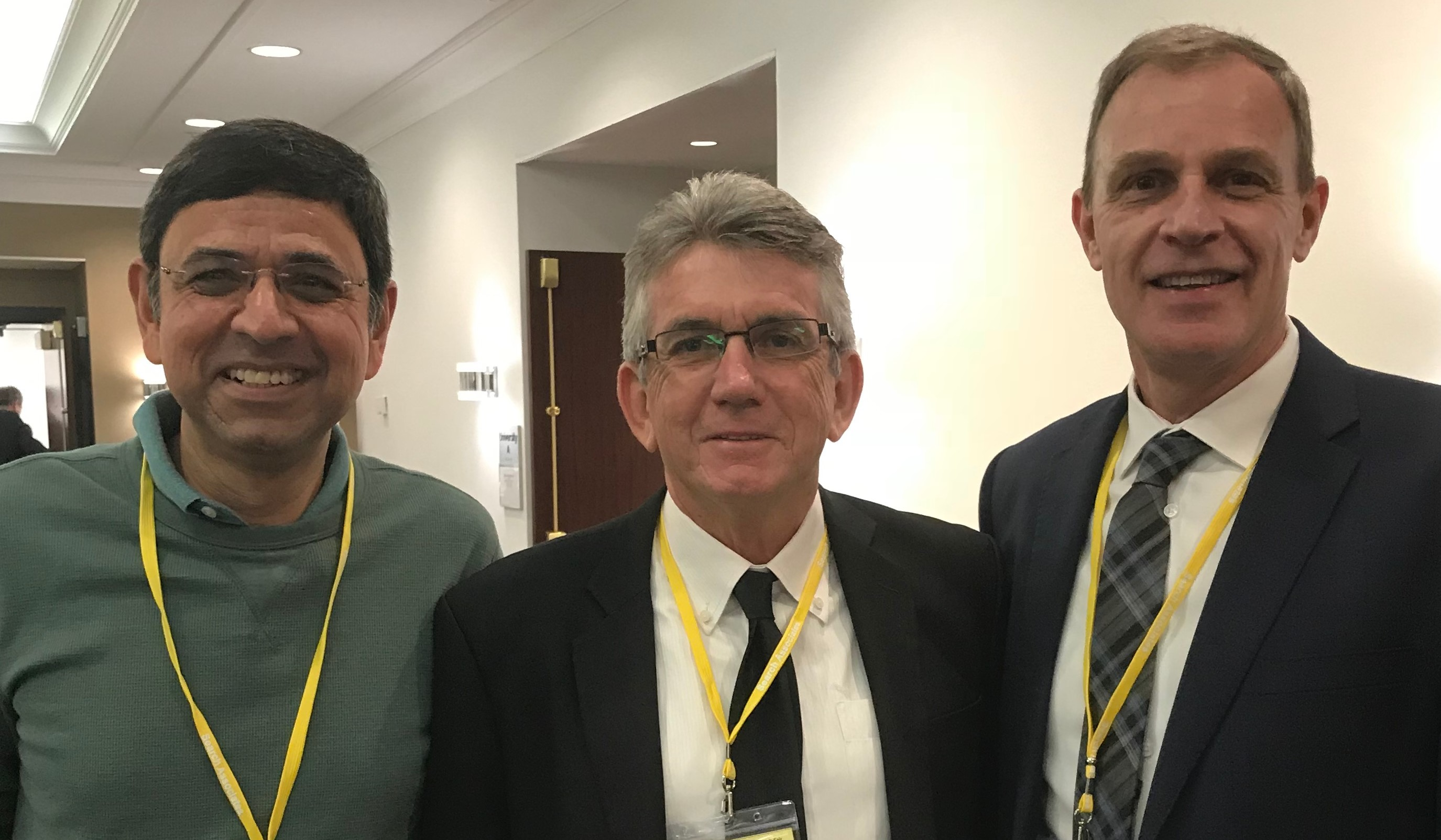 (L to R): COO Rajiv Bhat with Senior Associates Ray Sparks and Gary MacPhie