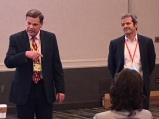 Bob Imholt introducing Joel Cohen, High School Principal of French American International School of San Francisco